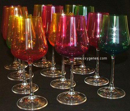 verre à vin coloré