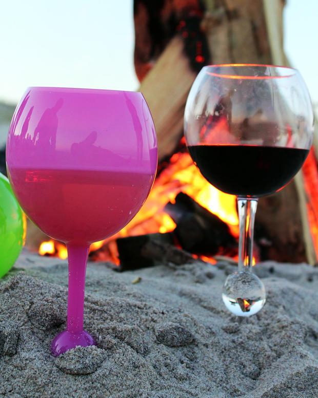 verre à vin flottant