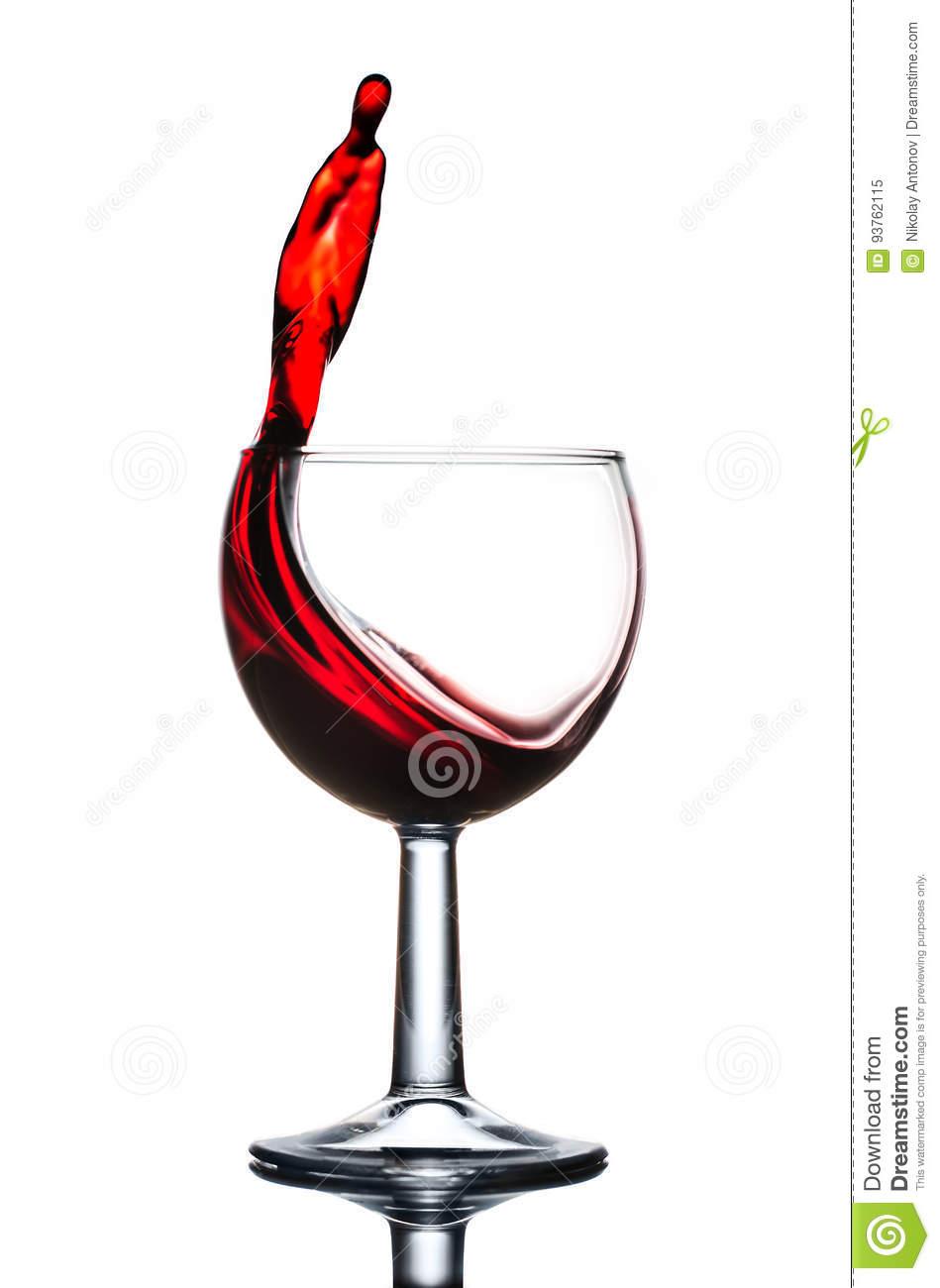 verre a vin rouge action