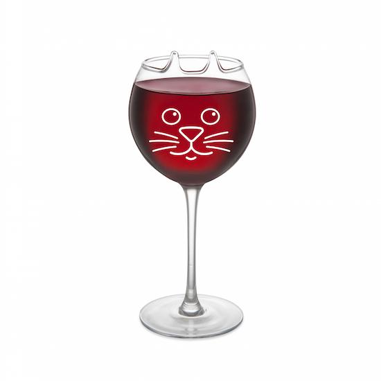 verre à vin chat