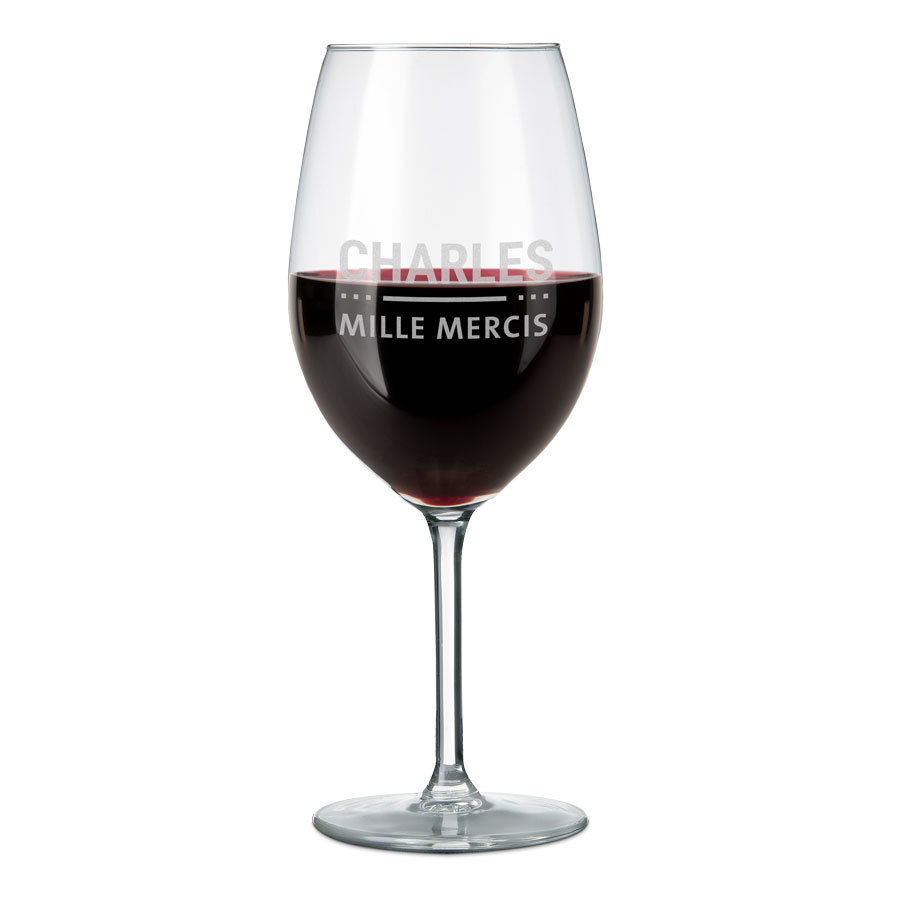 verre à vin rouge personnalisé