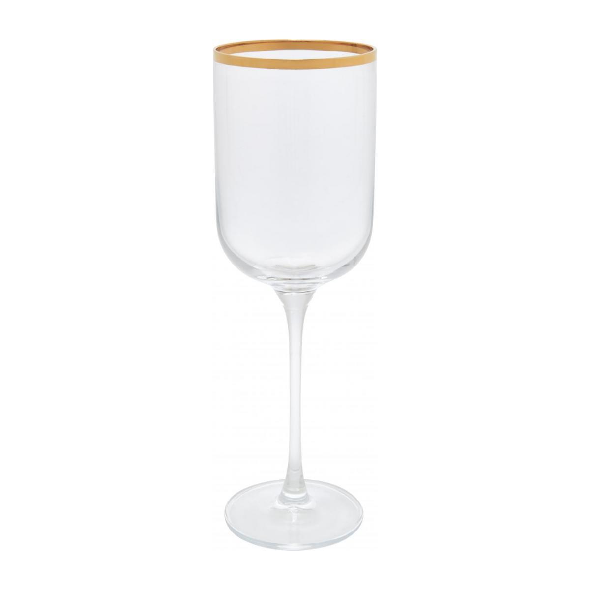 verre à vin bordure dorée