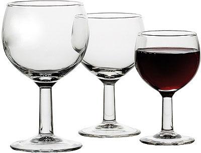verre à vin rouge ballon
