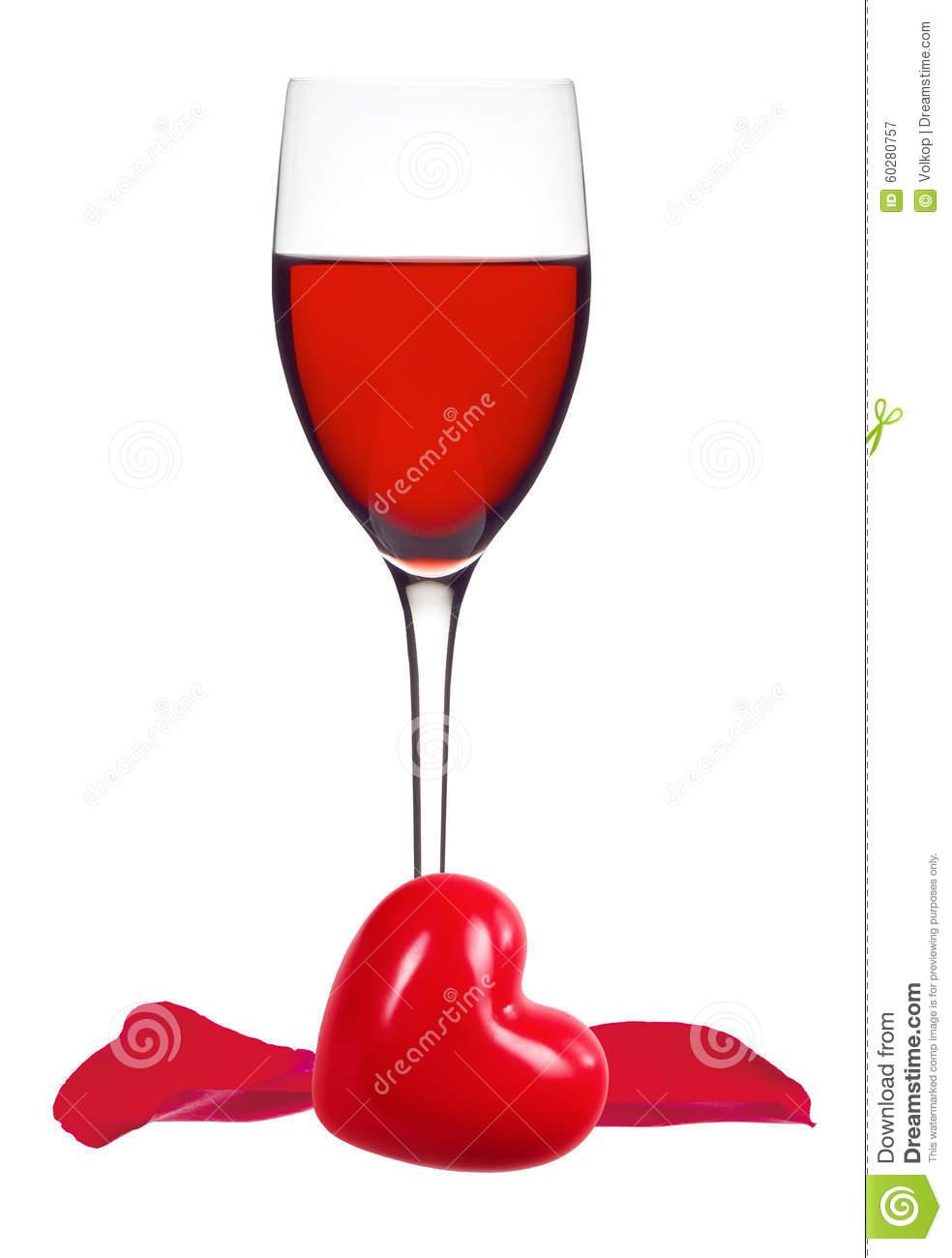 verre de vin rouge coeur