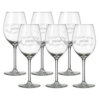 verre à vin blanc personnalisé