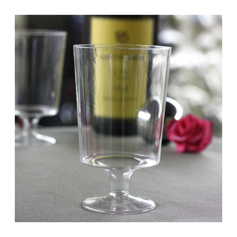 verre a vin blanc jetable