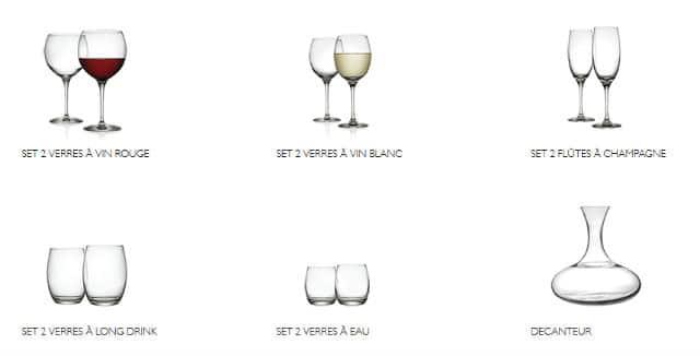 verre à vin carrefour
