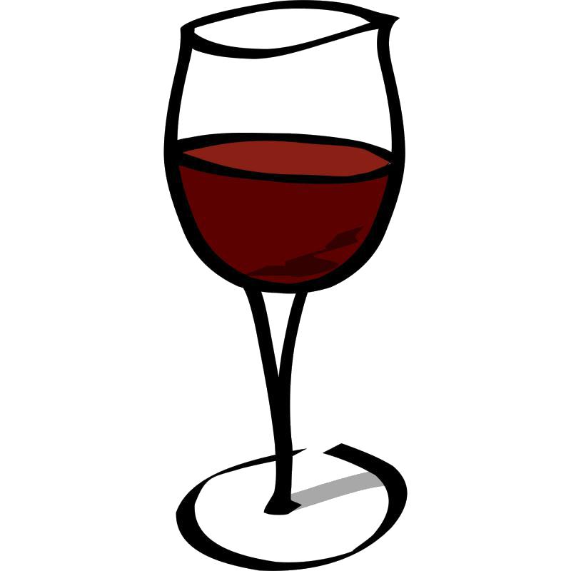 verre de vin rouge logo