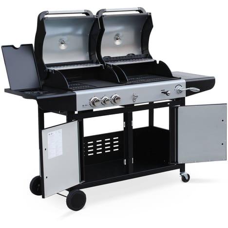 barbecue charbon allumage gaz