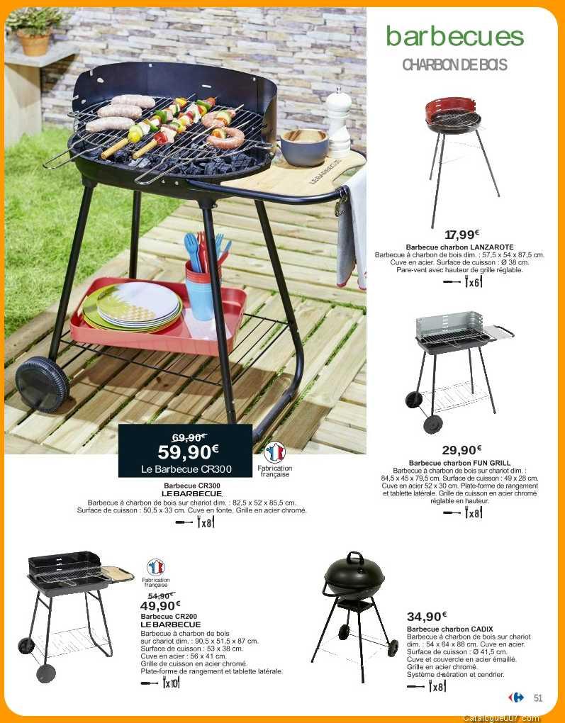 barbecue charbon de bois carrefour