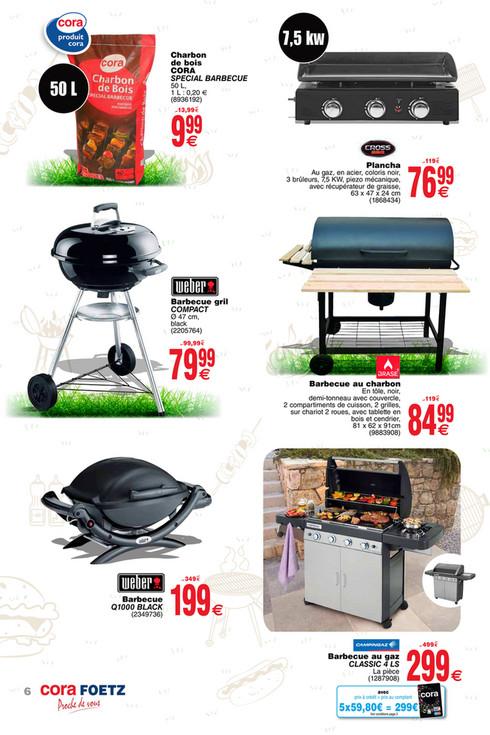 barbecue charbon cora