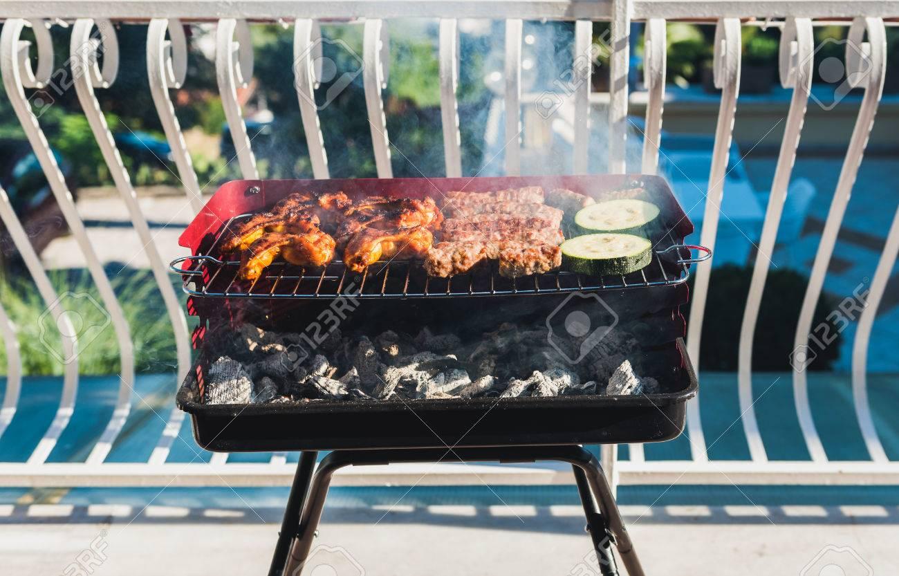 barbecue charbon balcon