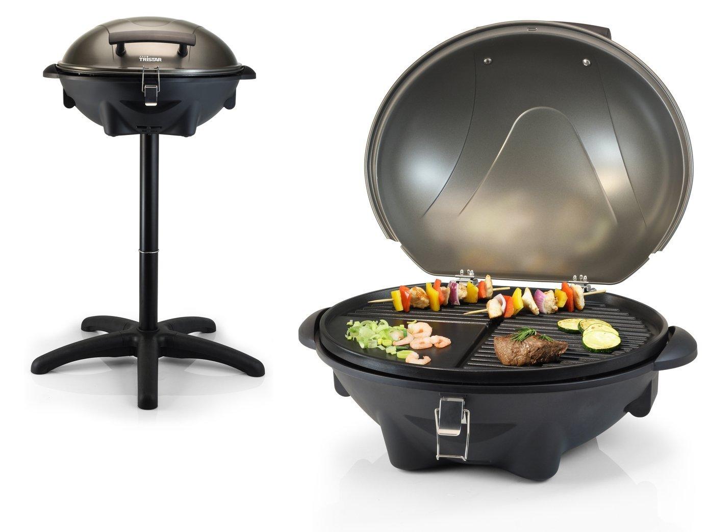 barbecue electrique de table avec couvercle