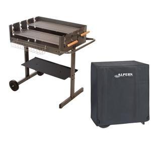 barbecue charbon avec housse