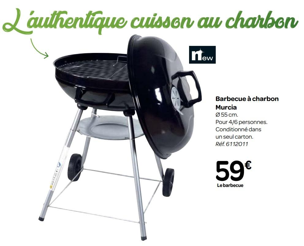 barbecue charbon carrefour