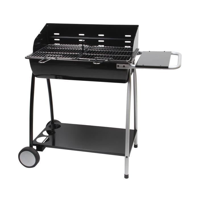 barbecue charbon double foyer