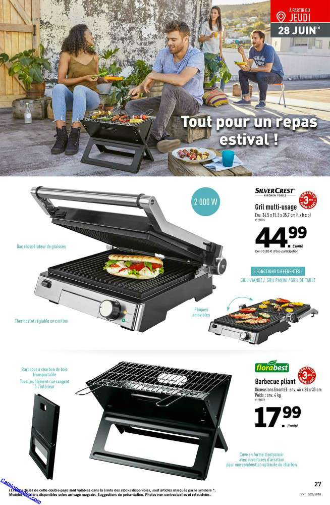 barbecue charbon lidl