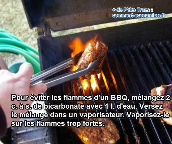 barbecue electrique flamme